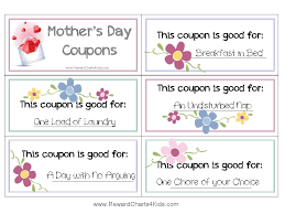 Mothers Day Coupons Mother's day coupon booklet