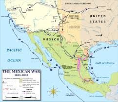 end of mexican american war treaty of guadalupe hidalgo map map of the mexican american war 1846 1848 the mexican american war