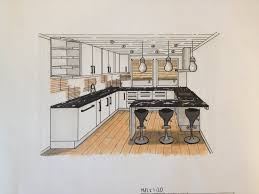 draw point perspective kitchen