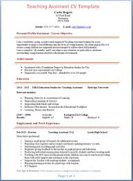 teaching assistant resume sample teaching assistant cv template teacher aides job description