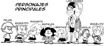 Los personajes principales en Mafalda