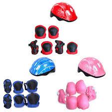 <b>7 Pcs</b>/<b>set</b> Childs <b>Kids</b> Safety Helmet Knee Elbow Pad Set Cycling ...