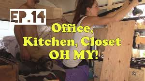 tiny home ep 14 closet organization diy kitchen small office space diy home decor diy home office desk recycled