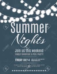 elegant summer night party invitation flyer template royalty elegant summer night party invitation flyer template stock vector 36055867