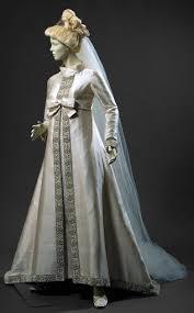 White silk taffeta <b>wedding dress</b> with white silk tulle <b>veil</b> - Unknown ...