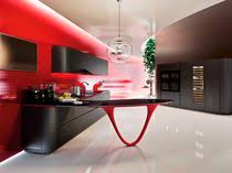 kitchen wood veneer compact lacquered contemporary kitchen wooden island lacquered   contemporary kitchen wo