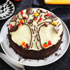 scary good halloween cake recipes taste of home autumn tree cake