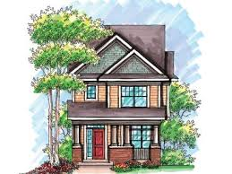 Page of   Bungalow House Plans   The House Plan Shop    Narrow Lot House Plan  H