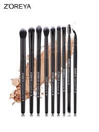 Buy <b>9 Pcs Zoreya Makeup</b> Brush Sets Soft Fiber Eye Brush Kits ...