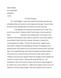 the yellow wallpaperquot by charlotte perkins gilman deals with a  pagezoom in