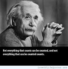 Albert Einstein quote on things that count - Love of Life Quotes