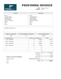 samples of proforma invoice invoice template meaning invoice template
