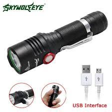 Skywolfeye <b>8000 Lumens</b> T6 <b>LED Flashlight USB Rechargeable</b> ...