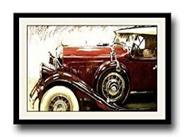 ArtStory <b>Vintage Brown Car</b> framed wall painting: Amazon.in: Home ...