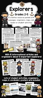 Students will learn about early explorers with Informational Articles and Interactive Activities geared for    Pinterest