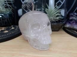 Pale <b>Rose Quartz Crystal</b> Skull <b>Carving</b> Pale <b>Rose Quartz</b>