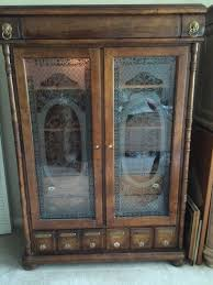 apothecary cabinet armoire apothecary drawers for medicinal herbs flowers stained glass antique pulaski apothecary style