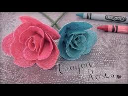 DIY <b>CRAYON ROSES</b> : Fabric Flower How To | SoCraftastic - YouTube