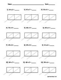 Multiplication worksheets, Multiplication and Lattices on Pinterest2 digit by 1 digit Lattice Multiplication Packet