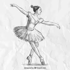 Hand drawn <b>elegant ballerina</b> Vector   Free Download