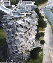 Apartment block that looks like a white tree  The ultimate tree    Tree in the sky  An apartment block unlike others  the building    s balconies are inspired