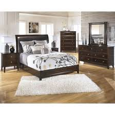 bedroom set main: templenz contemporary style dark sable brown finish  piece king bedroom set main image