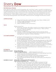professional videographer templates to showcase your talent resume templates videographer