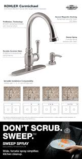 pull kitchen faucet color: carmichael pull down kitchen faucet in stainless steel