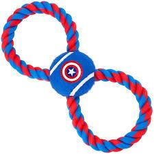 <b>Игрушка Buckle</b>-<b>Down</b> Капитан Америка синий мячик на верёвке ...