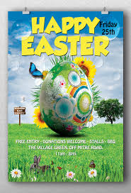 happy easter flyer template flyerroom happy easter flyer template