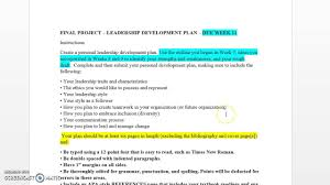 leadership rough draft and final project instructions leadership rough draft and final project instructions