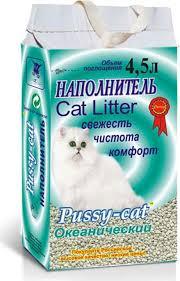 <b>Pussy</b>-<b>Cat</b> 4,5 л <b>океанический</b> впитывающий наполнитель для ...