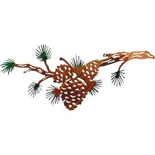 pine cone wooden wall art pinecone  pinecone branch wall hanging  pinecone