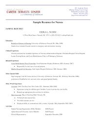 resume sample nurse resume example nurse nursing student resume samples