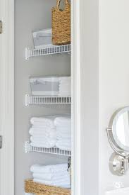 bathroom quot mission linen: organized bathroom linen closet anyone can have kelley nan