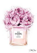 Art <b>Print Poster</b> / <b>Canvas</b> COCO CHANEL - Background | Fashion ...