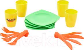 <b>Полесье Столовый</b> / <b>40633 Набор</b> игрушечной <b>посуды</b> купить в ...