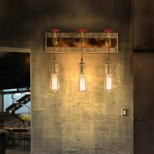Homary Industrial Loft <b>Metal</b> Water <b>Pipe Foyers</b> Wall Sconce with 3 ...