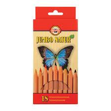 """<b>Карандаши цветные утолщенные</b> KOH-I-NOOR """"Jumbo natur"""", 18 ..."""