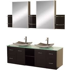 usa tilda single bathroom vanity set: wyndham collection avara  inch double bathroom vanity in espresso green glass countertop altair