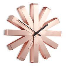 Купить <b>Часы настенные RIBBON медь</b>, Umbra (арт.118070-880) с ...
