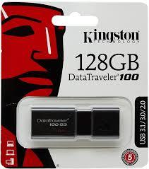 <b>Kingston</b> DT100G3/128GB <b>DataTraveler 100 G3</b> USB 3.0 Flash ...