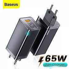 【Free Gift 100W Cable】<b>Baseus GaN2 Pro 65W</b> USB C Charger ...
