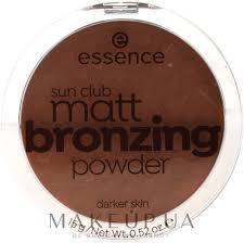 <b>Essence Sun</b> Club Matt <b>Bronzing Powder</b> - Бронзирующая пудра ...