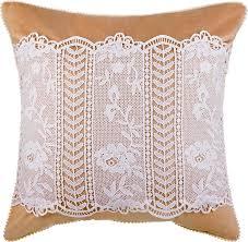 <b>Подушка декоративная Santalino</b> Кружево, 850-827-50, золотой ...
