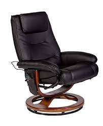 RelaxZen Deluxe Padded <b>Massage Recliner</b>, <b>Black</b> - Buy Online in ...