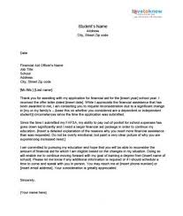 Sample Financial Aid Appeal Letter Financial aid appeal letter