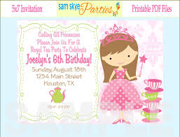 princess birthday invitations birthday party invitations 1st birthday princess invitations