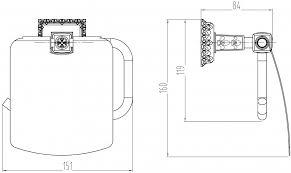 <b>Держатель туалетной бумаги Milacio</b> Alicante MC.916.BR купить в ...