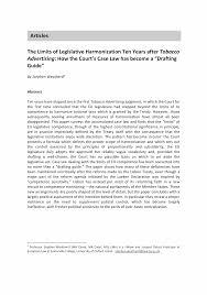 The Limits of Legislative Harmonization <b>Ten Years after</b> Tobacco ...